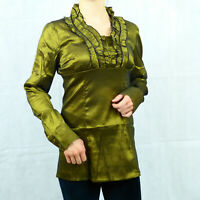 Sexy Victorian Steampunk Gothic Cotton Long Sleeve Party Shirt Top 8 10 12 14 16