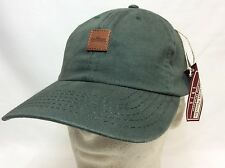 NEW IRON HORSE GOLF CLUB HAT CAP ARMY GREEN LEATHER BADGE USA MADE