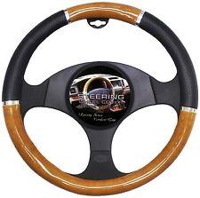 Wood Grain Steering Wheel Cover Black Car Comfort