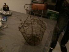 Ancien panier à salade ou oeufs en fer - Vintage wire egg basket Shabby