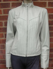 Guess Ladies Ivory/Beige Real Leather Jacket UK size M