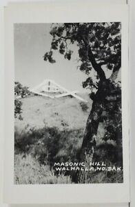 ND Walhalla North Dakota RPPC Masonic Hill Rare Real Photo Postcard O15