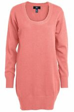 Ellos Womens Peach Oversize Sweater With Round Neckline UK 12/14 Box1433 g