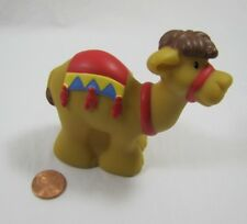 New CHRISTMAS NATIVITY CAMEL RED SADDLE Fisher Price Little People WISEMAN #2