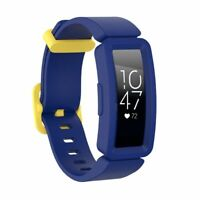 Soft Silicone Band Wistband For Fitbit Inspire HR/Inspire/Ace 2 Blue/Yellow Clip