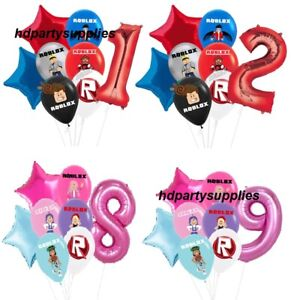 13pcs ROBLOX Themed Latex Foil Age Number Balloons Kids Birthday Party Decors