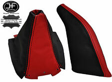 Rouge & noir en cuir gear & frein à main gaiter fits mazda MX5 MK1 na 1989-1997