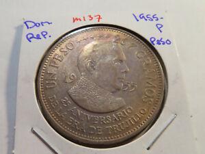 M137 Dominican Republic 1955-P Peso