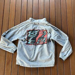 Vintage O'Neill Size L Reversable Jacket Surf Wear Large Logo Full Zip Casual