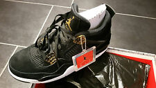 "Nike Air Jordan 4 IV retro black gold ""Royalty"" US 9 EU 42.5 NEU OVP"