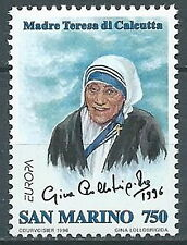 1996 SAN MARINO EUROPA MADRE TERESA DI CALCUTTA MNH ** - ED