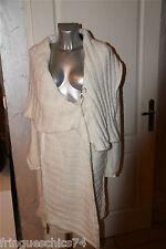 gilet poncho laine blanc MC PLANET T 38 neuf étiquette HAUT DE GAMME val 250€