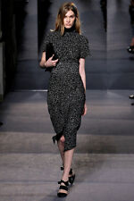PROENZA SCHOULER  Tweed Short Sleeve Asymmetric Tiered Dress  Sz:4 USA NEW