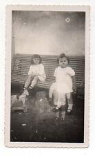 PHOTO N&B Ours Jouet Double exposition Surimpression Curiosité Vers 1930 Enfant