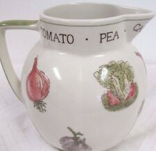 Vintage Laura Ashley Pitcher Vegetable Design Tomato Pea Carrot Leak Beetroot