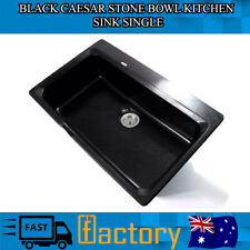 Black Pearl Caesar Stone Genuine KASA Sink Bowl Expensive Modern Kitchen Italian