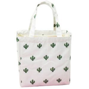 Adult Kid Thermal Insulate Cooler Lunch Bag School Travel Picnic Handbag Storage