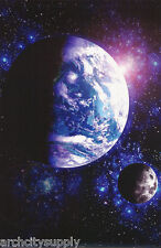 POSTER : ART:   EARTH - AS SEEN FROM OUTER SPACE - FREE SHIP   #8748  RAP123 B