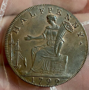 GB Middlesex 1/2 Penny Token 1792 Superb AUNC