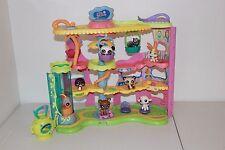 LITTLEST PET SHOP ROUND N ROUND TOWN LOt PLAYSET HOUSE CAT DOGS panda deer bird