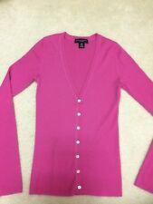 Banana Republic women cashmere pink ribbed cardigan sweater EUC