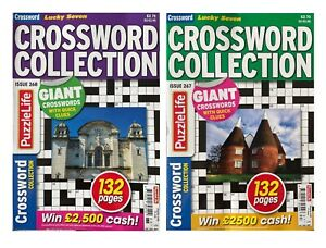 2 x Lucky 7 Crossword Collection Puzzle Books Magazines Puzzles UK Seller