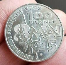 FRANCE - FRANCIA - FRENCH COIN - MONNAIE DE 100 FRANCS 8 MAI ARGENT 1995 SUP.
