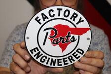 New ListingPontiac Factory Engineered Parts Car Dealership Gas Oil Porcelain Metal Sign