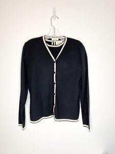 Vintage Merino Wool Sweater Set Neiman Marcus Size Medium
