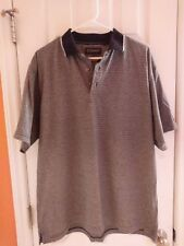 Reebok Golf Polo Shirt Medium Short Sleeve Play Dry Moisture Wicking Black Gray