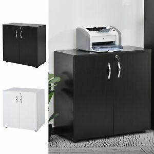 Filing Cabinet Home Office File Storage Organizer with Keys, 2 Tier, Wood Grain