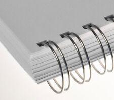 RENZ Draht-Bindeelemente, 2:1 Teilung, Ø 6,9 mm, 23 Schlaufen (=DIN A4), silber