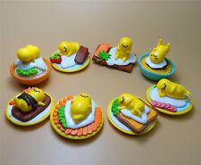Lot of 8 cut Gudetama Collectible Lazy Egg Minifigures Kid Toy Pvc Figure 4cm k9
