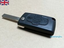 Replacement 4 button flip key fob case for Peugeot 1007 807 remote new case