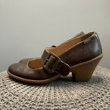CAMPER • Brown Leather Heeled Mary Jane Shoes • Size UK 6 EUR 39