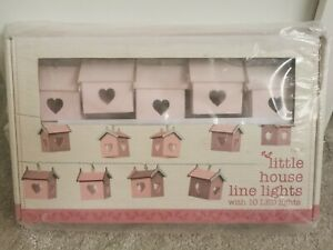 NEXT PINK Wooden Little House LED Lights BN