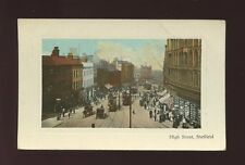 Yorkshire Yorks SHEFFIELD High St Trams Used 1908 PPC