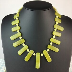Jade Natural Gemstone Statement Necklace Healing Harmony Luck Friends Gift Xmas
