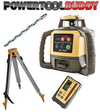 Topcon RL-H5A Laser Level with LS-100D mm Digital Receiver Nedo Tripod + Staff