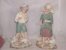 Antique Heubach Gebruder figurines 1882-present Coralline boy girl and chicks