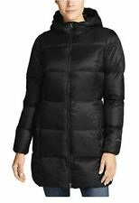 Eddie Bauer Womes Ladies Black Luna Peak Down Parka Coat Size L NEW