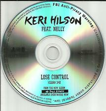 KERI HILSON w/ NELLY Lose Control w/ CLEAN TRK PROMO DJ CD Single 2011 USA
