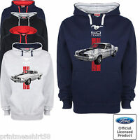 Ford Mustang Hoody Hoodie Classic Pony American V8 Muscle Car Genuine Clothing