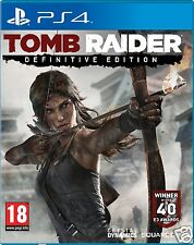 Tomb raider definitive edition PS4 playstation 4 jeu tout neuf scellé uk