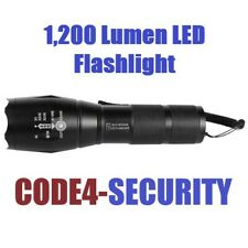 1,200 Lumen LED Self Defense Zoomable SOS pinpoint flood Flashlight Battery incl