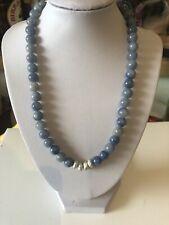 Tutti&Co Blue Bead And Detachable Silver Pendant Necklace