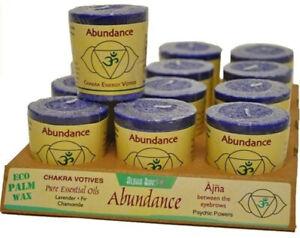 Chakra Energy Votive Candle - Abundance by Aloha Bay, 12 Candles