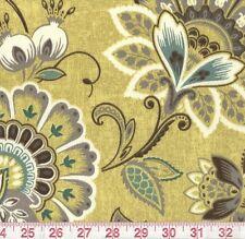 Bryant Samsara Quartz Indoor Outdoor Yellow Floral Upholstery Fabric BTY