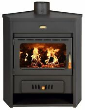 Wood Burning Stove with Boiler Corner Fireplace for Central Heating Prity AM W12