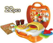 Kitchen Pizzeria 22pcs Pretend Play Set for Kids Children Cooking Food Baking